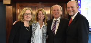 Georgetown Law Assistant Dean Vicki Arroyo; former Texas State Senator Wendy Davis; Gerry Hebert, executive director of the Campaign Legal Center; and Dean William M. Treanor at the Voting Rights Institute Launch. National Press Club.