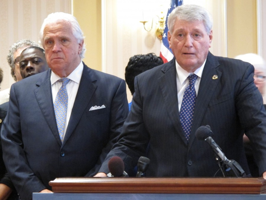 Maryland Senate President Thomas V. Mike Miller and Maryland Speaker of the House Michael Busch.